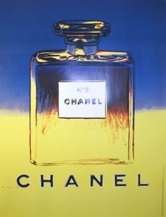 Chanel (Yellow and Blue) Collectable Print by Andy Warhol at Art.com