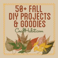 50 Autumn Fall DIY Projects