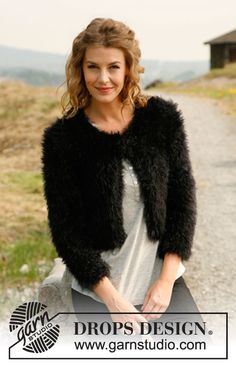 "Free pattern: Knitted DROPS fur jacket in 2 strands ""Symphony"". Size: S - XXXL. ~ DROPS Design"