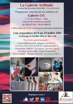 #Exposition #vernissage #été # Nice #Galerie #artitude #artcontemporain