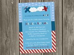 Boys Baby Shower Invitation or Birthday Invitation by paperclever, $12.00