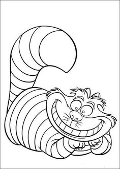 Alice In Wonderland Cat Coloring Pages