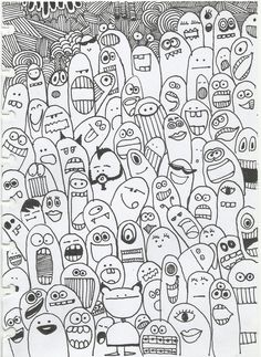 #doodling #monster #faces Choose one for yourself. I have everything inside me :P