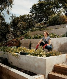 Los Angeles mayor Eric Garcetti and his partner, Amy Elaine Wakeland, rely on their backyard garden at their home in Echo Park for a good deal of their produce. Photo by Misha Gravenor