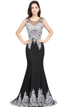 Looking for in Spandex, Mermaid style, and Gorgeous Appliques work? Cocosbride has all covered on this elegant ARIYAH Cocktail Bridesmaid Dresses, Long Cocktail Dress, Cheap Bridesmaid Dresses, Homecoming Dresses, Cocktail Dresses, Long Formal Gowns, Formal Dresses, Stunning Wedding Dresses, Dress Wedding