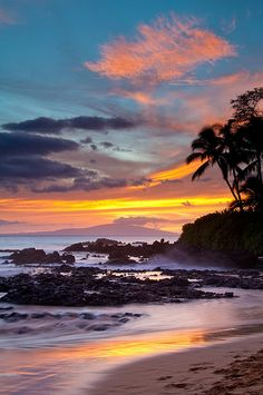 Sunset - Makena Cove, Maui, Hawaii