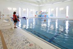 Swim in our indoor heated pool with zero depth access, a rotating vortex pool lots of room for classes and swimming lessons.  Join Us: http://www.ymcatwincities.org/locations/southdale_ymca/