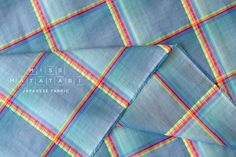 Yarn dyed textured plaid - blue