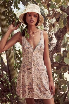 Somedays Lovin Secrets Floral Dress - Urban Outfitters