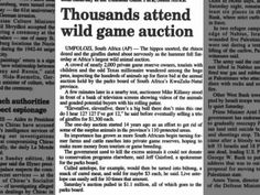 Wild Game Auction ... 23 Jun 2002