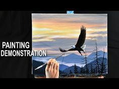 How to paint a sunset Acrylic Painting Techniques, Painting Videos, Bob Ross, Pictures To Draw, Art Pictures, Drawing Pictures, Seascape Paintings, Landscape Paintings, Wet On Wet Painting