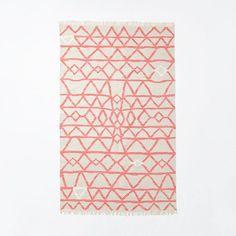 Torres Wool Kilim, Guava - eclectic - rugs - by West Elm West Elm Rug, Eclectic Rugs, Textile Texture, Textiles, Modern Area Rugs, Contemporary Rugs, Floor Rugs, Floor Art, Rugs On Carpet