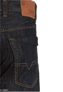 1897 Jeans Mens Dark Selvege Straight GL333G