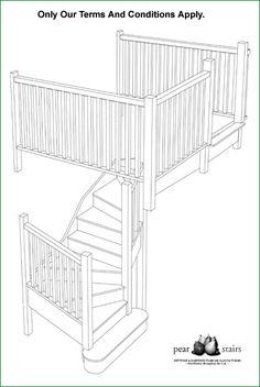 Trederwen View - staircase design.