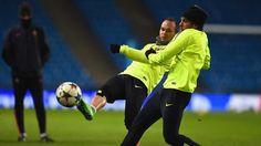 Andrés Iniesta entrenando | UEFA Champions League.