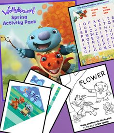 Print these Wallykazam! activities to celebrate all magic words that start with S, like spring and sunshine!