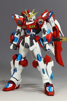 HGBF改造 カミキバーニングガンダム ワールドチャンピオン Burning Gundam Custom