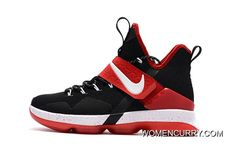 """hot sales cf813 ff972 """"Bred"""" Nike LeBron 14 Black Red-White Cheap To Buy"""