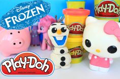 How to make Olaf from Disney Frozen Olaf Funko Pop style made with Play-doh
