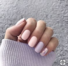 Nail art is a very popular trend these days and every woman you meet seems to have beautiful nails. It used to be that women would just go get a manicure or pedicure to get their nails trimmed and shaped with just a few coats of plain nail polish. Nails 2018, Trendy Nail Art, Trendy Nails 2019, Pastel Nails, Acrylic Nails, Pastel Art, Pretty Pastel, Matte Purple Nails, Blue Nail