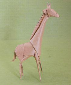 """""""25 Amazing Origami Animals"""" -- Shown: Giraffe"""