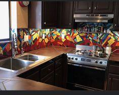 Kitchen Cabinets, Kitchen Appliances, Mosaic Backsplash, Wall Oven, Kitchen Remodel, Home Decor, Diy Kitchen Appliances, Home Appliances, Decoration Home