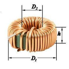 Calculate inductor knowing its dimensions and relative permeability. Simple Electronics, Hobby Electronics, Electronics Components, Electronics Projects, Electronics Gadgets, Electronic Circuit Projects, Electrical Projects, Electronic Engineering, Electrical Engineering