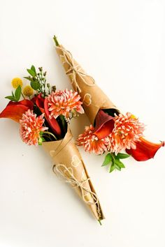 How to Wrap A Mini-Bouquet of Thanks