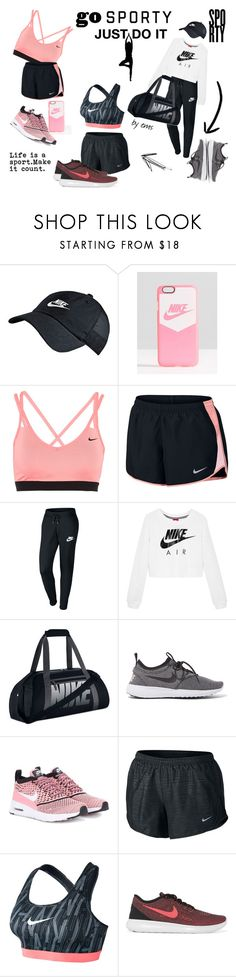 """Just do it"" by polyvoregirl893 ❤ liked on Polyvore featuring NIKE"