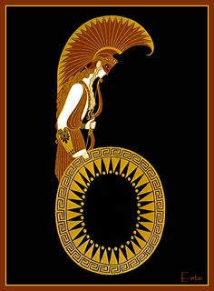 Number 6-Erte - by style - Art Deco