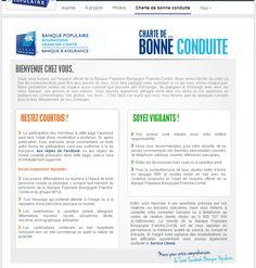 Banque Populaire Franche Comté - HTML Tab (Charte d'utilisation) #socialshaker