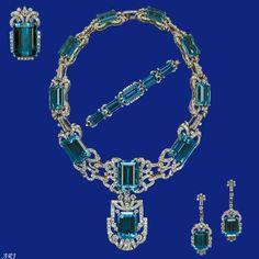 Artemisia's Royal Jewels: Elizabeth II's Jewels - Brazilian Aquamarine and Diamond Parure (without the tiara)