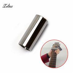 Zebra 1pcs 60*25mm Silver Chromed Steel Guitar Slide Guitar String Finger Tube For Acoustic Electric Guitar Parts & Accessories #Affiliate