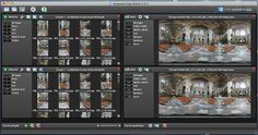 Software Processing   The panorama is created by stitching multiple pictures together with Kolor software: Autopano Giga and Panotour Pro.