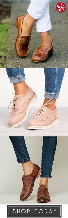 Vintage Shoes Judedress Women Vintage Slip On Loafers Low Heel PU Leather Shoes,Women's Lace Up Perforated Oxfords Shoes,Slip On Faux Leather Loafers Oxford Shoes - Vintage Slip, Vintage Shoes, Vintage Ladies, Trendy Shoes, Cute Shoes, Me Too Shoes, Leather Loafers, Pu Leather, Oxfords