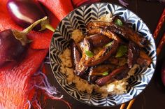 Spicy Miso Eggplant Recipe @cooking on the weekends #vegetarian