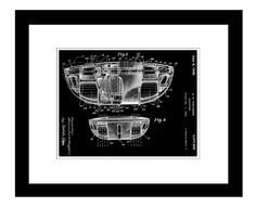 Flying Saucer Patent Framed Graphic Art