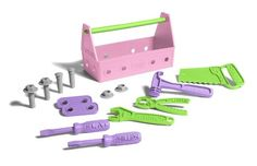 Amazon.com : Green Toys Tool Set, Pink : Sorting And Stacking Baby Toys : Toys & Games