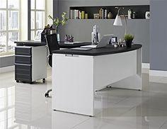 Altra Furniture Pursuit Small Office Set: Executive Desk, Credenza, and Mobile File Bundle, Credenza