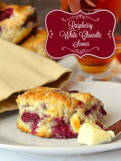 These raspberry white chocolate scones are a big fan favourite on Rock Recipes and have become a must have weekend brunch item for many. Just Desserts, Delicious Desserts, Dessert Recipes, Yummy Food, Brunch Recipes, Seafood Recipes, Mexican Desserts, Party Desserts, Rock Recipes