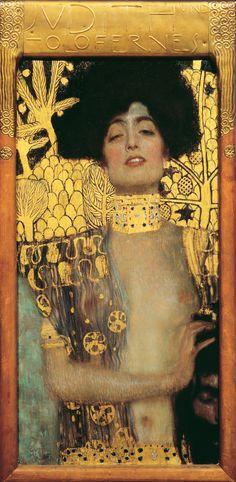 Gustav Klimt  Giuditta, 1901  Olio su tela 84 x 42 cm, Vienna Belvedere (Belvedere, Vienna)