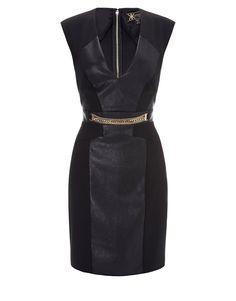 Kardashian Kollection Chain Detail Shift Dress