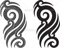 Maori tattoo pattern — Vector EPS #curl #tattoo • Available here → https://graphicriver.net/item/maori-tattoo-pattern/2376452?ref=pxcr