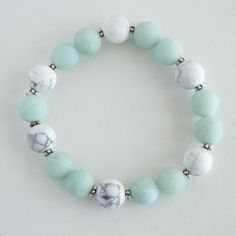 Amazonite and Howlite Bracelet