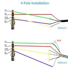Apple 18 in audio jack colorcoded wiring diagram  for