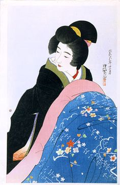 The Second series of Modern Beauties: Footwarmer , Ito Shinsui,1931