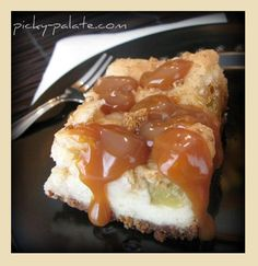 Caramel Apple Cheesecake Bar just in time for the fall harvest of your favorite apple. See this recipe plus more fabulous sweet apple desserts