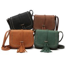 Sale!!!! $19.99 Women's Small Crossbody Bag Purse Shoulder Saddle Bag With Tassel