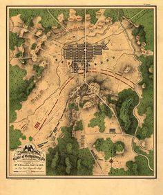 Maps: Battle of Gettysburg Map. #maps #history #US