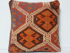 40 YOLD VINTAGE Turkish Kilim Pillow Cover Organic by DECOLIC. $45